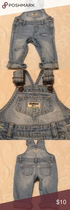 Oshkosh overalls Worn a few times. 6 months. Distressed styled overalls OshKosh B'gosh Bottoms Overalls