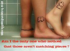 puzzle piece tattoo | Tumblr