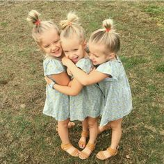 I LOVE these triplets! ❤️ Dylan, Maisynn & Raigan are their names Beautiful Children, Beautiful Babies, Baby Pictures, Baby Photos, Cute Kids, Cute Babies, Triplet Babies, Kid Sister, Baby Kind