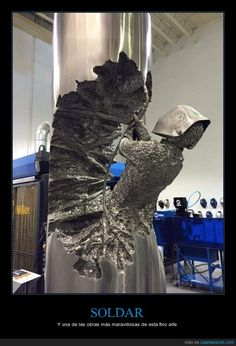Funny pictures about The Art Of Welding. Oh, and cool pics about The Art Of Welding. Also, The Art Of Welding photos. Shielded Metal Arc Welding, Metal Welding, Diy Welding, Welding Ideas, Welding Funny, Cool Welding Projects, Welding Design, Blacksmith Projects, Metal Yard Art