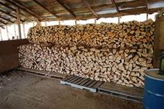 Stack of Cut, Delivered & Split Firewood