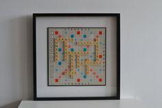 Toulouse Scrabble par Jeuxdemots sur Etsy  #toulouse #scrabble #frame #original #capitole #black #white #jeu #voyage #travel #france #design #diy