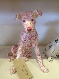 Emma Bridgewater Studio Special Pink Wallpaper Dog for Collectors Day 2014