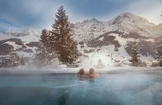 In pictures: six swimming pools with stunning mountain views in switzerland Adelboden, Zermatt, Hotel Bellevue, Highland Village, Hotels, Natural Scenery, Park Hotel, Stunning View, France