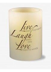 Mark Feldstein Live Laugh Love LED Pillar Candle
