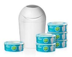 Tommee Tippee - 84011101 - Pack starter de poubelles à couches Sangenic - 6 recharges: Amazon.fr: Bébés & Puériculture