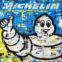 """Marwan Chamaa, """"Michelin"""", 2019, acrylic on canvas, 137 x 137 cm (53.94 x 53.94 inch). All images are used with the permission by the artist. Re-Pinning is permitted, however, please do not distribute, reproduce, reuse in any shape or form without first contacting the artist: marwan@art-factory.us © Marwan Chamaa First Contact, Being Used, Reuse, Snoopy, Shapes, Canvas, Gallery, Artist, Fictional Characters"""