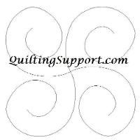 FREE Four Swirls Line Quilting