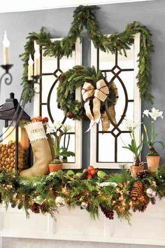 idée de déco de fenêtre pour Noël
