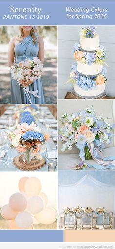 Idées décorer mariage en bleu sérenité