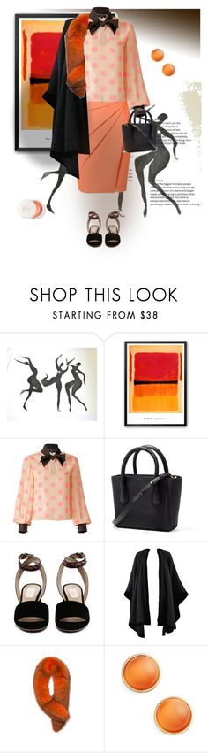 """Black and orange #contest 2"" by gagenna ❤ liked on Polyvore featuring Supersweet, Yves Saint Laurent, Andrew Marc, Kate Spade, Dior, valentino, saintlaurent, blackandorange and wolfandbadger"