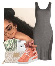 """"""""""" by heavensincere ❤ liked on Polyvore featuring LifeProof, Michael Kors and Puma"""