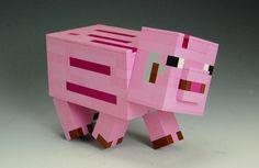 Lego Minecraft Pig by BrickBum on Lego Ideas. Vote for the Pig! Minecraft Creations, Lego Minecraft, Lego Ideas