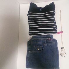 BUNDLE & SAVE or purchase separate see below Sweater top silver glistening $14 Gloria Vanderbilt JEANS $13 Crystal hand with nails $14 Other