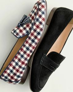 Tendance Chaussures 2018 : J.Crew women's Charlie tassel loafers in tweed and Charlie penny loafers in su. Cute Casual Shoes, Oxford Shoes Outfit, Women's Slip On Shoes, Tassel Loafers, Shoe Closet, Outerwear Women, Penny Loafers, Loafers For Women, Loafer Shoes