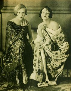 constance and norma talmadge 1925 by Captain Geoffrey Spaulding, via Flickr