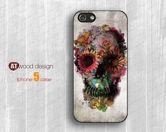 IPhone 4 case Art Skull Cool iphone 5 cases Hard by Atwoodting, $6.99