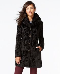 Laundry by Shelli Segal Reversible Faux-Fur Quilted Coat - Coats - Women - Macy's