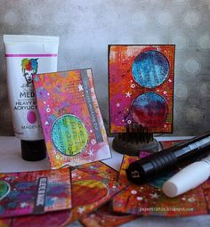 Riikka Kovasin - Paperiliitin: The color of magic ATC - Artists Live