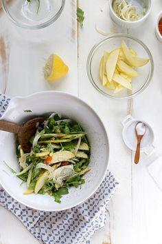apple + fennel with apricot + pistachio salad