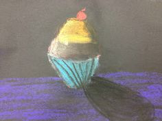 Splats, Scraps and Glue Blobs: Wayne Thiebaud Inspired Chalk Cupcakes - 4th Grade...