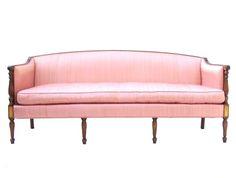 Elegant Vintage Hollywood Regency Sheraton Sofa image 2