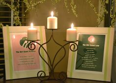 Girl Scouts Investiture Ceremony...need to use my 7th generation ceremony candle!!