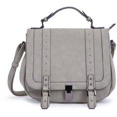 ShoeDazzle Bags Francois Womens Gray ❤ liked on Polyvore featuring bags, handbags, grey, wallets & cases, gray satchel, handbag purse, purse bag, grey purse and grey handbags