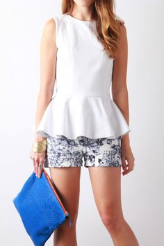 Peplum with Shorts, Shorts with Heels | Perpetually Chic