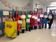 My awesome Second Grade team as the crayons from The Day the Crayons Quit-character dress up