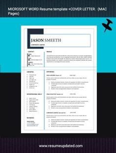 Modern Cv Template, Microsoft Word Resume Template, Cover Letter Format, Modern Resume, Resume Design, Professional Resume, Templates, Curriculum, No Response