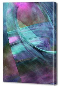 "Zzz  Menaul Fine Art ""Crystal Palace Tranquility"" Limited Edition Artwork, 36 x 54"", Blue/Purple/Pink/Green/Aqua/Brown/Black"