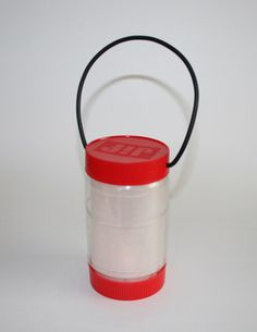 25 Tips For Making Camping Easier: Recycled PB Jar Camping Lantern  -  Made By Cynthia Rae Turn it on and watch it flicker and glow!   http://madebycynthiarae.blogspot.com/2009/02/green-craft-camping-lantern.html