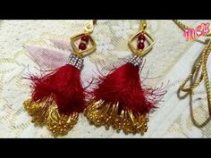 MCB's totally new pattern lathakan for heavy ,fancy blouses don't miss it Saree Kuchu New Designs, Saree Tassels Designs, Wedding Saree Blouse Designs, Bead Embroidery Tutorial, Beaded Embroidery, Mother Daughter Fashion, Ribbon Flower Tutorial, Fabric Jewelry, Beading Jewelry