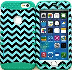 "myLife Stylish Design and Layered Protection Case for iPhone 6 Plus (5.5"" Inch) by Apple {Aqua Blue + Icy Blue ""Smooth Zig Zag Finish with Kickstand"" Three Piece SECURE-Fit Rubberized Gel} myLife Brand Products http://www.amazon.com/dp/B00PX76YO6/ref=cm_sw_r_pi_dp_LX2Cub0DZZPTQ"