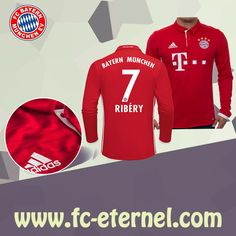 fc-eternel:Maillot Bayern Munich Manche Longue RIBERY 7 Domicile 16/17 Maillot Bayern Munich, Lewandowski, Football, Sweatshirts, Sports, Sweaters, Tops, Baby Born, Long Dress Patterns
