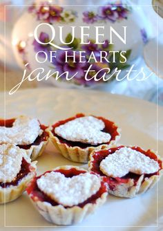 queen of hearts jam tarts anyone? :) a simple, elegant dessert featuring your favorite jam!