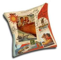 Add your Lake Name to these customizable pillows.