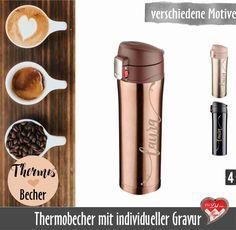 Thermobecher togo incl Wunschmotiv//Text//Bild bedruckt