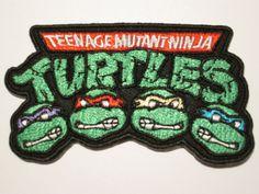 Teenage Mutant Ninja Turtles (3.5'' / 9cm) Iron on Patch - TMNT Embroidered Iron on Badge. €4.00, via Etsy.