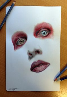 Color pencil drawing of ? by AtomiccircuS.deviantart.com on @deviantART