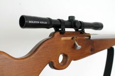 Needle and Nail - R - Wooden Toy Rifle with real scope - ROLSTON RIFLE $79