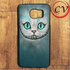 Grey Green Chesire Cat Samsung Galaxy S7 Edge Case