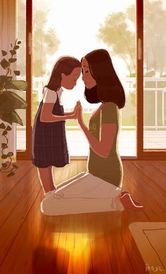 Risultati immagini per pascal campion guy illustration Mother Daughter Art, Mother And Child, Mother Art, Pascal Campion, Foto Baby, Get Happy, Children's Book Illustration, Mothers Love, Cartoon Art