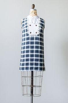 vintage 1960s gingham mod mini dress