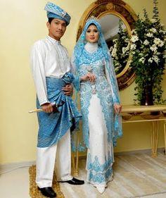 blue french lace malay wedding attire Malay Wedding Dress, Wedding Attire, Wedding Dresses, Kebaya Muslim, Muslim Dress, Modest Fashion, Hijab Fashion, Wedding Prep, Wedding Planning