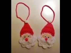 Weihnachten - Nikolaus häkeln - Weihnachtsmann - Anhänger - Santa Claus - Baumanhänger - YouTube