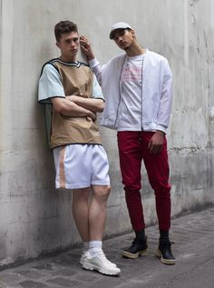 Estelita Mendonça | Hugo Costa #heavylondonshowroom @heavylondonshowroom  Photography by Constant Fazilleau  @constantfazilleau (on Instagram) casting: Guglielmo Dalvit styling: Nicholas Vallechi Models: Matthias (instagram: matthiashbt) (left) Kamal (instagram: _mal_ka) (right)