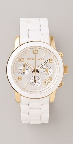 Michael Kors Watch -- Normally not a fan of the silicone bracelet, but these are cute.