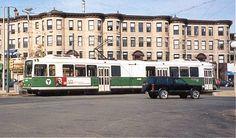 MBTA  LRV  at Cleveland  Circle